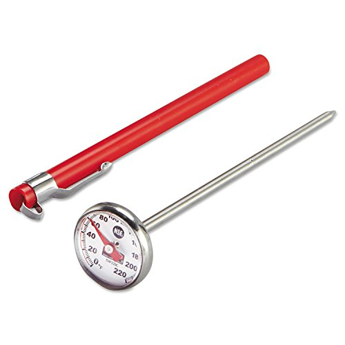 OKSLO Industrialgrade analog pocket thermometer, 0f to 220f ()