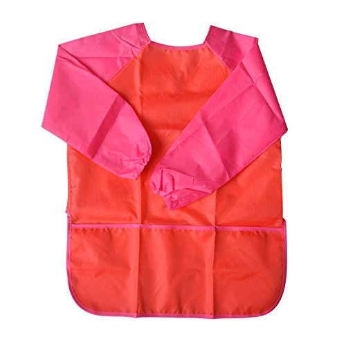Children Painting Aprons Kids Art Smocks Artists Fabric Aprons Art Smock, Waterproof Painting Toddler Apron Long Sleeve Aprons for Kitchen and Classroom Community Event, Crafts & Art Painting Activity