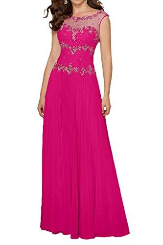 mia mit Pink Braut Partykleider Lemon La Steine Elegant Gruen Rock Langes Abendkleider Brautmutterkleider Linie Chiffon A dOxBqwZ