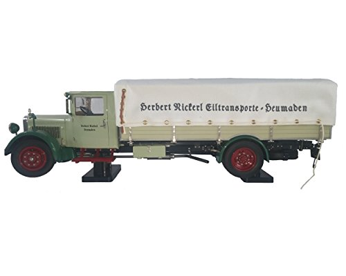 CMC-Classic Model Cars Collectible Truck with Tarpaulin Cover, Green
