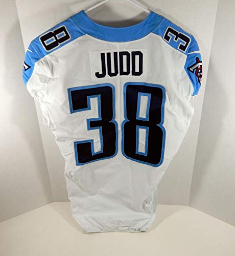 2017 Tennessee Titans Akeem Judd #38 Game Issued White Jersey - Unsigned NFL Game Used Jerseys
