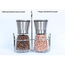 Homeerr P1638068 Salt and Pepper Grinder Set, Adjustable Ceramic Rotor(Set of 2)