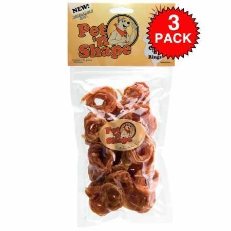 3 Pack Pet 'n Shape Chik 'n Rings 12oz total