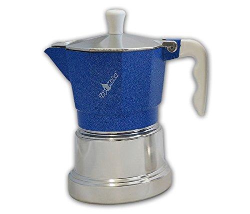 Cafetera Top Moka-Plata top03 Azul: Amazon.es: Hogar
