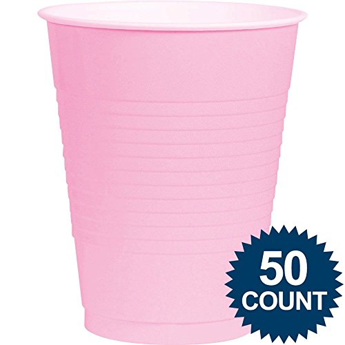 Pink, Big Party Pack, Plastic Cup 16 oz, 50 Per Pack