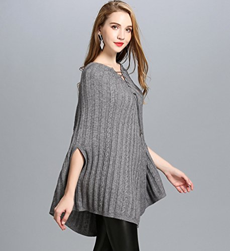 Creativo E Sólido De WanYang Color Pulóver Chal Suéter Para Suéter De Gris Punto Otoño Casual Invierno Mujer xHfqwwUI