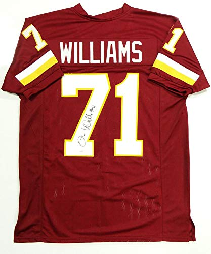 50ee566c413 Image Unavailable. Image not available for. Color  Trent Williams  Autographed Maroon Pro Style Jersey- JSA W Authentication