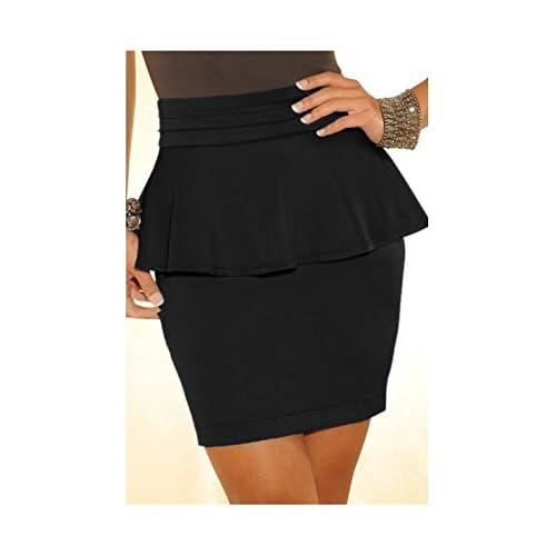 PriModas - Falda mu para combinarla con tu top favorita, mujer, 437105202, color: Negro, talla: Única