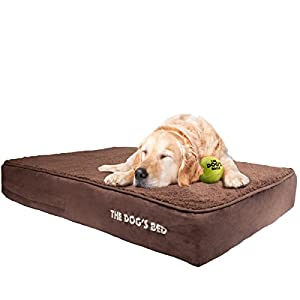 the dogu0027s bed premium waterproof dog bed s to xxl quality oxford fabric removable washable cover grey brown green black biscuit blue pink dog beds for