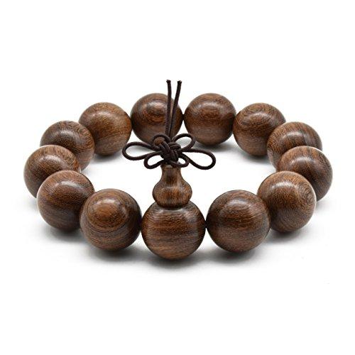 Zen Dear Unisex Natural Silkwood Tibetan Buddhism Meditation Prayer Bead Necklace Japa Mala Beads Bracelets (18mm x 13 Beads) by Zen Dear (Image #1)