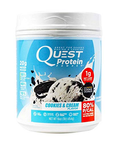 Quest Protein Powder Cookies & Cream 16 oz For Shakes,