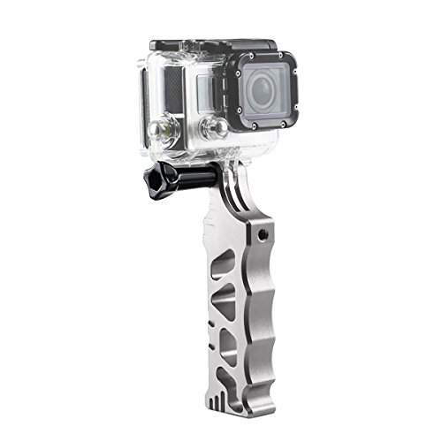 Solid Super Aluminium CNC Martial Style Monopod for GoPro Hero 3 3+ 4 - Silver by Unknown