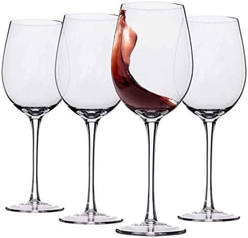 Hand Blown Crystal Wine Glasses product image