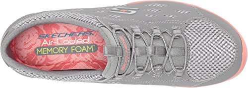 Skechers Gratis Big-Idea Trainers Womens Gray/Coral qtADuGDbFQ