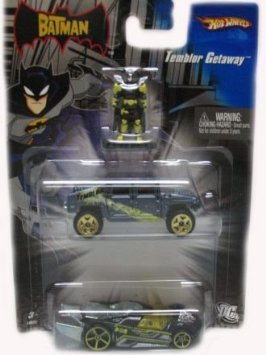 The Batman Hot Wheels Temblor Getaway Die-Cast Car Set with Batman Figure Mattel