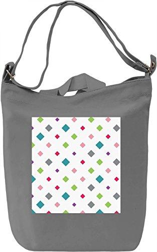 Geometrical Figures Print Borsa Giornaliera Canvas Canvas Day Bag| 100% Premium Cotton Canvas| DTG Printing|