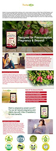 Red Raspberry Leaf Tea, Fertility tea with Rasberry leaf for women to get  pregnant fast, induce labor and aid uterus health - Caffeine Free - 30 Tea