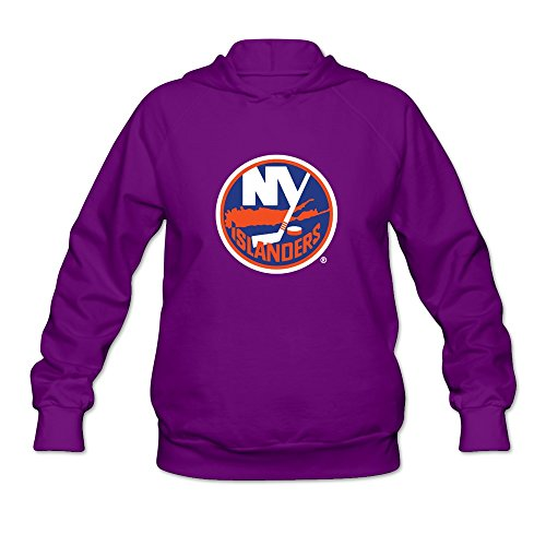 Flycro Women New York Islanders Nerdy Sweatshirts Size XXL Color Purple