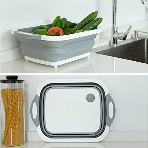 (Sodoop Collapsible Fruit Vegetable Washing Drain Basket,Multipurpose Kitchen Colander Strainer Shower Storage Rack, Home Kitchen Storages Tools for Camping BBQ Hiking Caravan Cleanup)