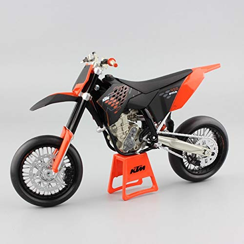 (LENO 450 SMR 2009 Supermoto Motorcycle Model diecast | High Simulation | Scale 1:12)