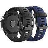 CSVK Garmin Fenix 3/Fenix 5X Watch Band, Soft Silicone Watch Accessory Strap for Garmin Fenix 3/Fenix 3 HR/Fenix 5X /5X…