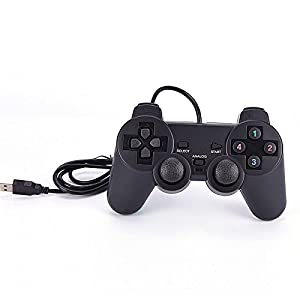 ANGELS--Black USB PC Computer Wired Gamepad Game Controller Joystick Rocker
