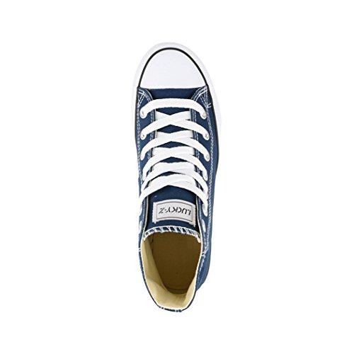 36 Sneaker Scarpe Tessile Unisex Elara Uomo Top Per nbsp; Donna Sneakers High Sport Scarpe 7Znwq5