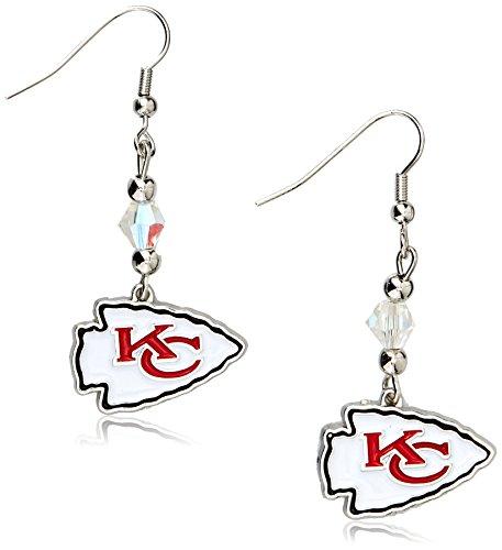 Siskiyou NFL Kansas City Chiefs Crystal Dangle Earrings