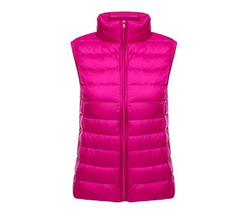 Pluma Chaquetas de Mujer Light Windproof Down Ake Puffer Coat Rose Chaleco Ultra TSw4XWx8qB