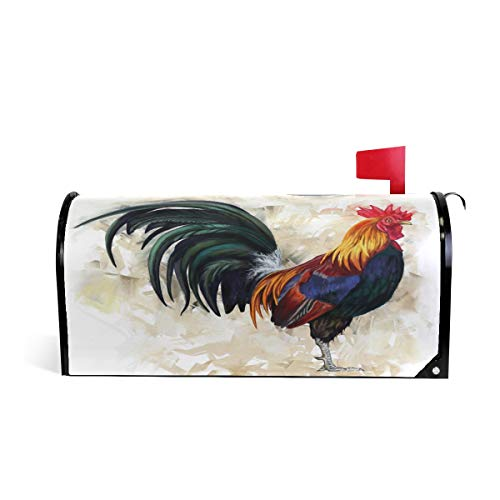 WOOR Rooster Cock Magnetic Mailbox Cover Standard Size-18
