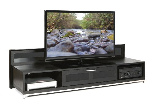 Plateau Valencia 79 B Wood TV Stand, 79-Inch, Black Oak Finish
