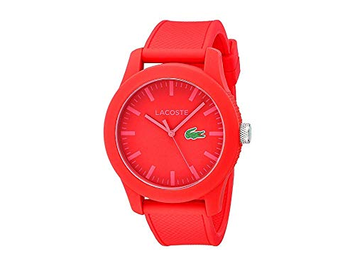 Lacoste Men's 2010764 Lacoste.12.12 Red Watch with Textured Band (Lacoste Watch Band)