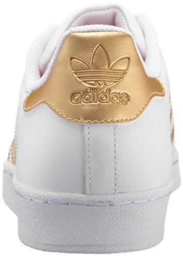 Adidas Originals Zapatos Superestrella De Los Hombres Ftwwht / Goldmt / Azul Barato para Niza Comprar ofertas baratas foLmSep