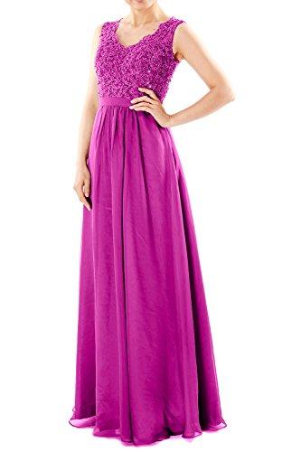 Fuchsia Dresses Women Chiffon Long Lace V MACloth Evening Gown Neck Formal Prom Party B6S4wwqf