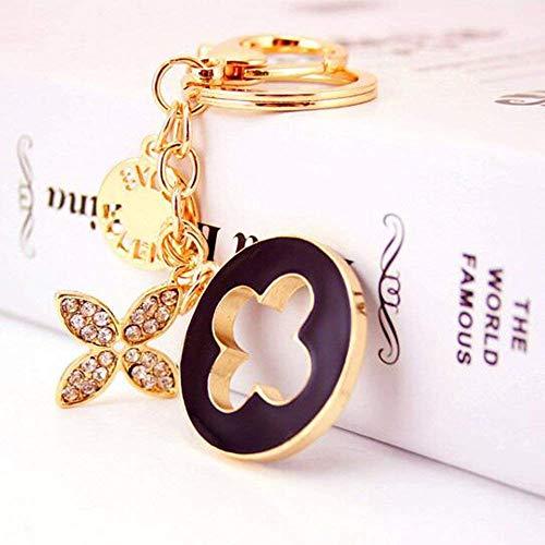 JewelBeauty Four-Leaf Clover Crystal Rhinestone Keychain Key Chain Sparkling Key Ring Charm Purse Pendant Handbag Bag Decoration Holiday Gift