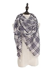 Spring fever Women Fashion Soft Tartan Checked Plaid Thermal Lattice Large Scarf A34