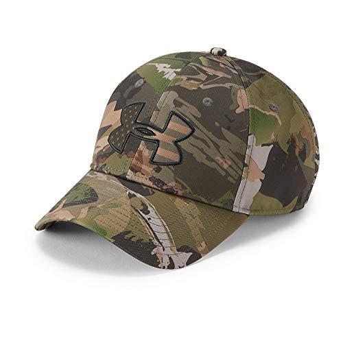 Under Armour Men's Camo Big Flag Logo Cap, Ua Forest Camo (940)/Artillery Green, One Size ()