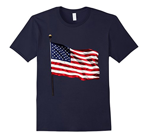 Patriotic Flying Colors - Mens American Flag Flying Patriotic USA T-Shirt for 4th of July XL Navy