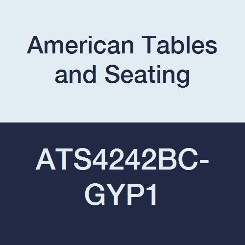 American Tables & Seating ATS4242BC-GYP1 Vinyl T-Molding Laminate Table Top, Special Corner Booth Cut, Polyethylene T-Mold Edge, Premium 1 Wilsonart Laminate, 42