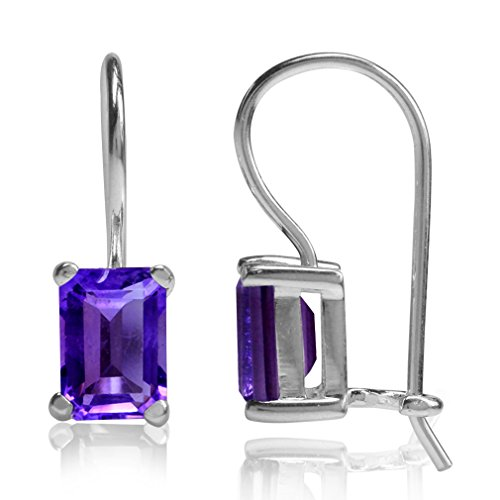 1.9ct. Natural African Amethyst 925 Sterling Silver Hook Closure - Natural Ct 1.9