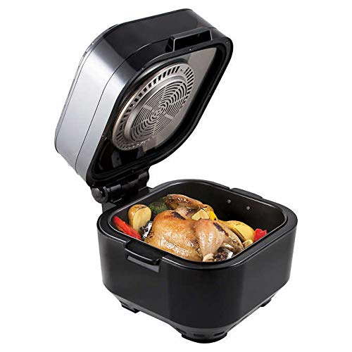 NuWave Brio Black 10 Quart Digital Air Fryer with 3 Piece Gourmet Accessory Kit