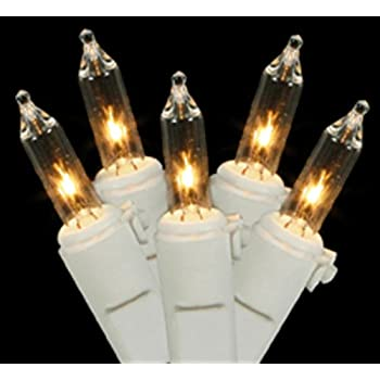 set of 100 clear twinkling mini christmas lights white wire - Christmas Lights With White Wire