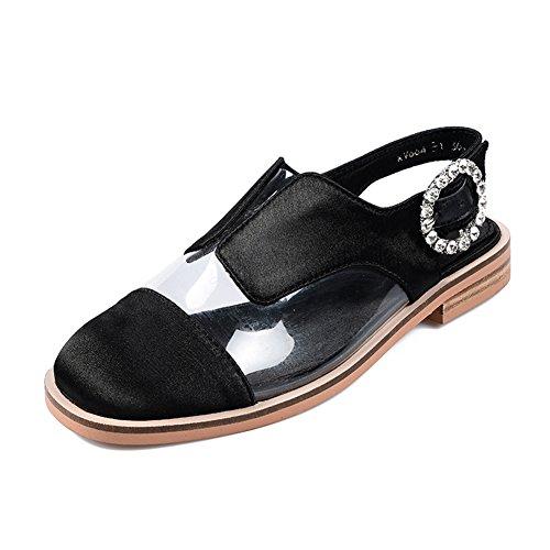 Sandalias Zapatos Verano Transparente Plano Mujer Qianda Talón De OkZuPXi