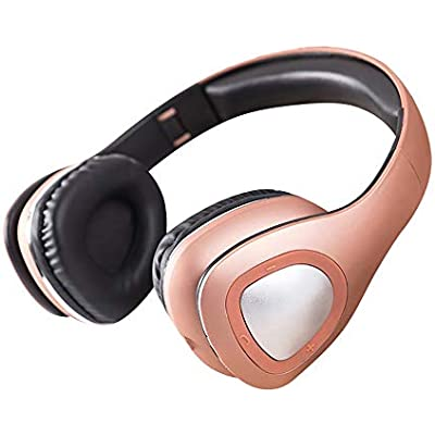FCHDZ Bluetooth headphones over ear wireless bluetooth headphones over ear with mic 360   surround sound hifi sound quality retractable folding suitable for most bluetooth-enabled devices