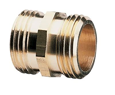 Nelson Brass Male Pipe to Male Hose Fitting; 3/4-Inch NPT X 3/4 Hose Thread Coupler - 50573