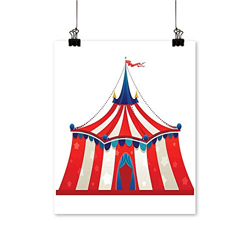 Hanging Painting Colorful Striped Circus Marquee Tent with Stars Flag Carnival Performance Desig Rich in Color,20