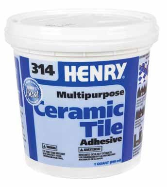 (HENRY, WW COMPANY 12255 QT #314 Cera Adhesive)