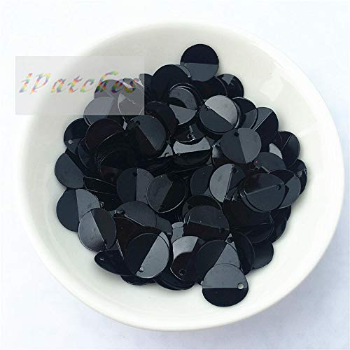 (Crafts - 480pcs 10mm Cup Oval Folded Sequins Horse Eyes Shape for Crafts Frosted Loose DIY Wedding Sewing Accessories Black)