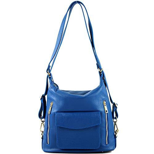 sac Blue de en Damenrucksack T174 cuir modamoda Ital Hgqtwzw