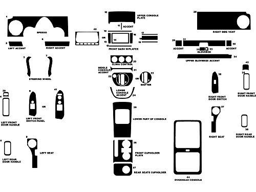 Rdash Dash Kit Decal Trim for Honda Element 2003-2006 - Wood Grain (Burlwood -